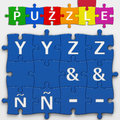 Letters with clipping path puzzle to place concepts in a crossword Royalty Free Stock Photo