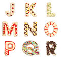 Letters J to R from decorated cookies Stock Photography