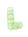 Letters and numbers alphabet of cucumbers Royalty Free Stock Photo