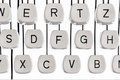 Letters on a typewriter Royalty Free Stock Photo