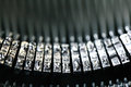Letters on a vintage typewriter Royalty Free Stock Photo