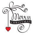image photo : Lettrage de main de Joyeux Noël