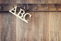 Lettres d abc Photo libre de droits