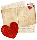 Lettres d'amour Photo libre de droits