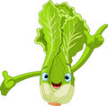 Lettuce Character Presenting Something Stock Photo