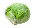 Lettuce Head Isolated on White Royalty Free Stock Photo
