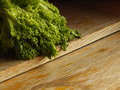 Lettuce on the old wood table Royalty Free Stock Photo