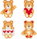 Leuk teddy bear with heart Stock Foto