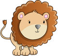 Leuke lion cub vector Stock Foto