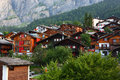 Leukerbad alps village the in the in the switzerland Royalty Free Stock Photo
