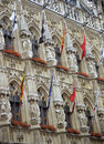 Leuven City Hall Detail Stock Images