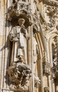 Leuven detail of gothic town hall with the statue of saint on september belgium Stock Photography