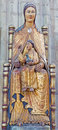Leuven neo gothic polychrome statue of madonna in st peters gothic cathedral on september belgium Royalty Free Stock Images