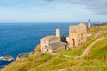 Levant mine cornwall england the historic on the penwith coast uk europe Royalty Free Stock Photos