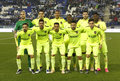 Levante UD lineup Royalty Free Stock Photo