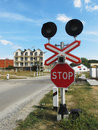 Level crossing Stock Photos