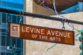 Levine avenue of the arts street sign in charlotte nc Royalty Free Stock Photo