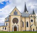 Levoca basilica of visitation of virgin mary slovakia Stock Images