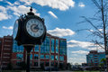 Lexington South Carolina Main Street Town Clock Center Royalty Free Stock Photo
