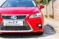 Lexus ct h hybrid car new look with red colour this is facelift model Stock Photos