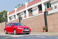 Lexus ct h hybrid car with red colour this is facelift model Stock Image