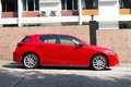 Lexus ct h hybrid car with red colour this is facelift model Stock Images