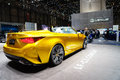 The lexus lf c concept motor show geneve convertible hides attention seeking behind gorgeous model photo taken Stock Images
