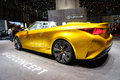 The lexus lf c concept motor show geneve convertible hides attention seeking behind gorgeous model photo taken Royalty Free Stock Photo