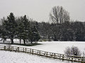 Leyland golfcourse winter snowfall on lancashire uk Stock Photos