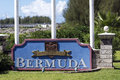 Lf wade international airport bermuda a cheerful welcome to placard greets visitors to the island of shortly after arriving at Stock Photo