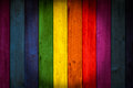 LGBT Colorful color wood background Royalty Free Stock Photo