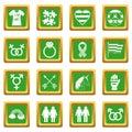 Lgbt icons set green