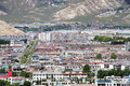 Lhasa city the view of Royalty Free Stock Photos