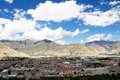 Lhasa city the view of Royalty Free Stock Image
