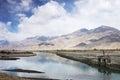 Lhasa river in tibet china tibetan song ji said tanggula south of the mountain southwest through to qushui Royalty Free Stock Photography