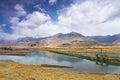Lhasa river in tibet china tibetan song ji said tanggula south of the mountain southwest through to qushui Royalty Free Stock Images