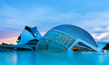 Lhemisferic and el palau de les arts reina sofia i valencia spain august view of city of sciences on august in valencia spain Stock Photography