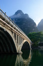 Li river karst mountain landscape in yangshuo china Stock Images