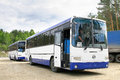 Liaz chelyabinsk region russia june new interurban coaches at the interurban road Stock Image