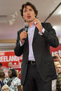 Liberal party leader justin trudeau at chrystia freeland rally in toronto october Stock Image