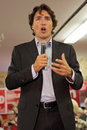 Liberal party leader justin trudeau at chrystia freeland rally in toronto october Stock Photo