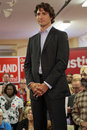 Liberal party leader justin trudeau at chrystia freeland rally in toronto october Royalty Free Stock Photos