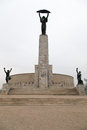 Liberation monument in budapest hungary sitting high above budapest the foot tall statue stands on a foot tall pedestal Royalty Free Stock Images