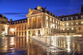 Liberation square dijon and the palace of dukes of burgundy in france Royalty Free Stock Photography