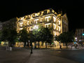 Liberdade square porto by night portugal Stock Images