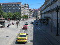 Liberdade square in porto and rua dos clerigos the city centre of portugal Royalty Free Stock Photos