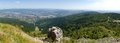 Liberec city from jested a panoramic view at jizerske mountains with in the background picture was taken Royalty Free Stock Photography