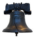 Liberty bell iconic american on a white background Royalty Free Stock Photography