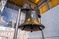 Liberty bell old symbol of american freedom in independence mall building in philadelphia pennsylvania Stock Image