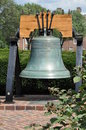 Liberty bell reproduction a copy of the located at the green historical park in dover delaware Stock Photos